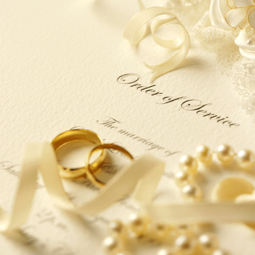Wedding Order of Services